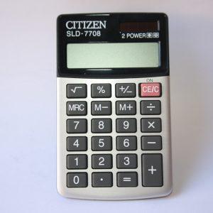 Citizen SLD-7708 Dual Powered calculator