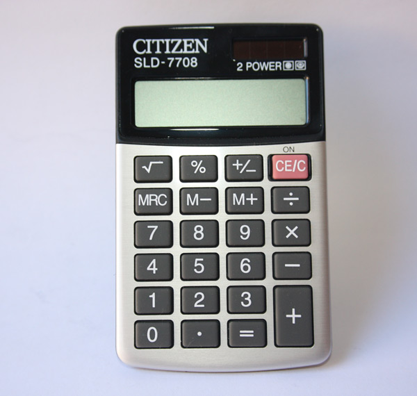 Dual Powered Calculator