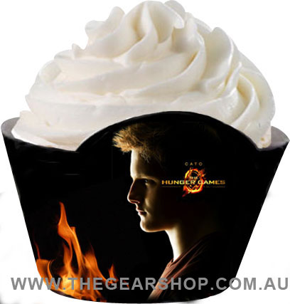 hunger games cupcake wrapper_cato