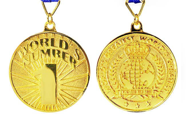 world's number one award medal