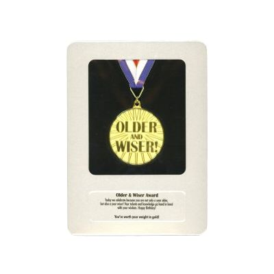 Older And Wiser Award Medal