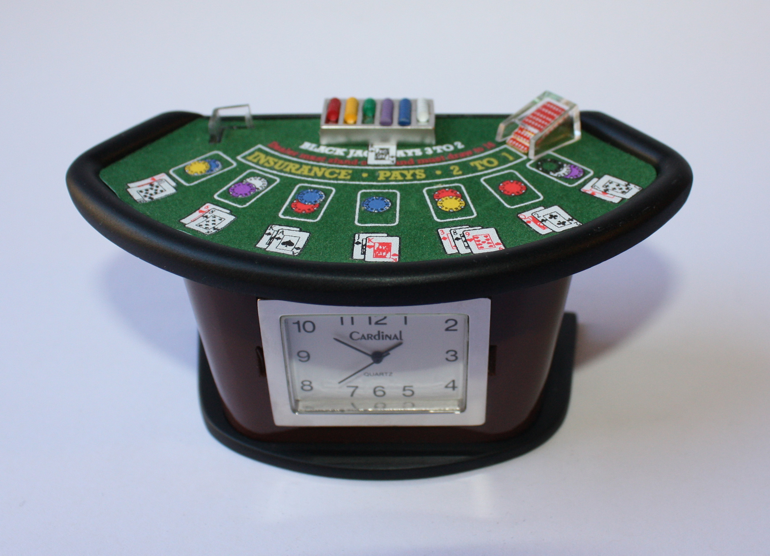 Black Jack Table Desk Clock