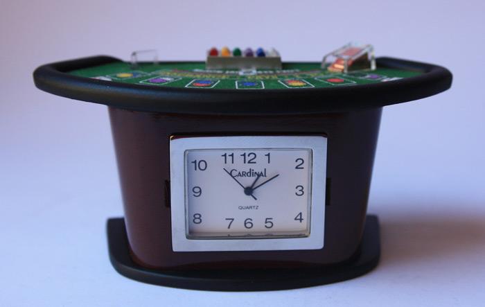 Black Jack Table Desk Clock