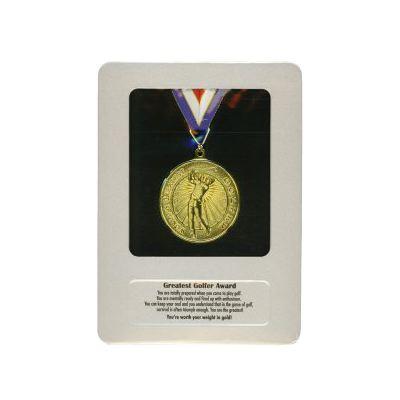 greatest golfer award medal