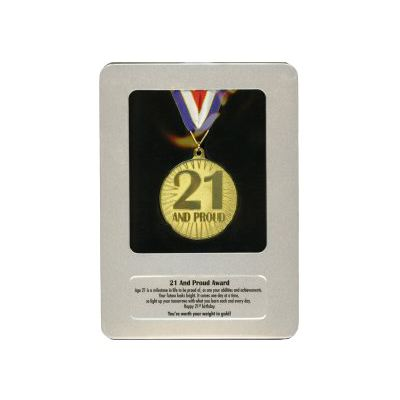 21st birthday award medal